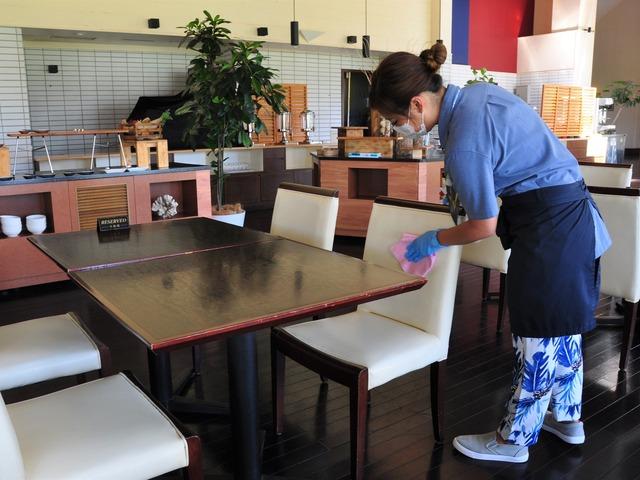 オクマ プライベートビーチ & リゾート レストランでの感染予防対策